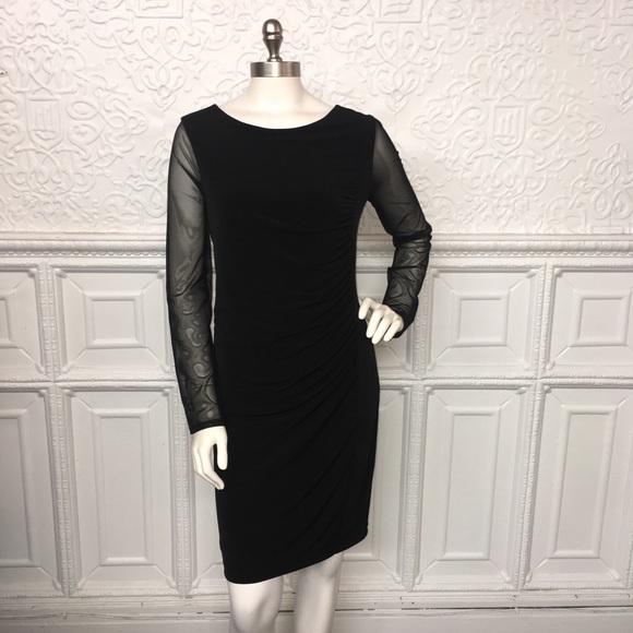 Chico's Dresses & Skirts - NWT Chicos SZ 1 Black Dress w/Sheer Long Sleeves